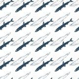 蓝色熔炼无缝的样式 向量例证