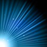 蓝色爆炸光 库存图片