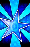 蓝色爆炸海报星形 库存图片