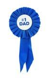 蓝色爸爸丝带 免版税库存图片
