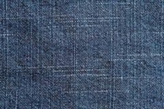 蓝色牛仔布牛仔裤纹理 免版税库存照片