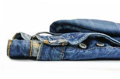 蓝色牛仔布牛仔裤 库存图片