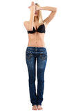 蓝色牛仔裤妇女 免版税图库摄影