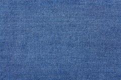 蓝色牛仔裤材料分开纹理 牛仔布织品背景 图库摄影