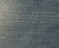 蓝色牛仔裤材料分开纹理 库存照片