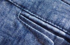 蓝色牛仔裤气喘背景针特写镜头  图库摄影