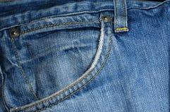 蓝色牛仔裤矿穴 图库摄影