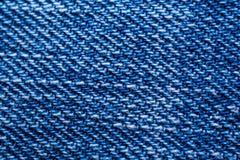 蓝色牛仔裤纹理背景 免版税库存图片