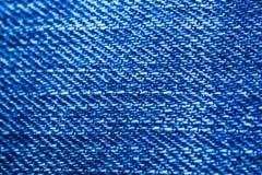 蓝色牛仔裤纹理背景 库存照片
