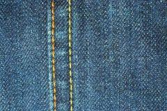 蓝色牛仔裤缝 免版税库存照片