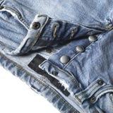 蓝色牛仔裤详细资料 免版税库存图片