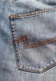 蓝色牛仔裤返回 库存图片