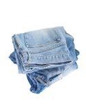 蓝色牛仔布斜纹布 免版税库存图片