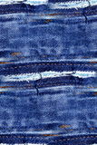 蓝色牛仔布无缝的背景 免版税图库摄影