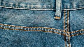 蓝色牛仔布牛仔裤纹理,背景 免版税图库摄影