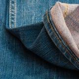 蓝色牛仔布牛仔裤纹理,背景 图库摄影