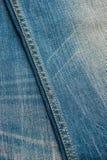 蓝色牛仔布牛仔裤纹理,背景 免版税库存照片