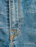 蓝色牛仔布牛仔裤纹理,背景 库存照片
