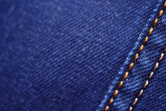 蓝色牛仔布 库存图片
