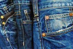 蓝色牛仔裤。 图库摄影