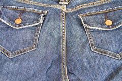 蓝色牛仔裤口袋 免版税图库摄影