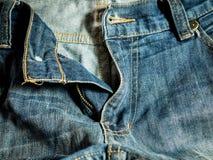 蓝色牛仔裤工作者样式 免版税库存图片