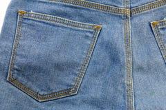 蓝色牛仔裤或蓝色牛仔布从工业 免版税库存图片