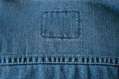 蓝色牛仔裤特写镜头纹理背景 免版税库存图片