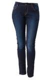 蓝色牛仔裤的妇女 免版税库存照片