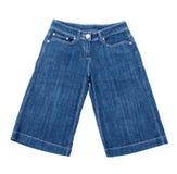 蓝色牛仔裤短裤 图库摄影
