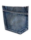 蓝色牛仔裤矿穴 库存照片