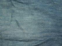 蓝色牛仔裤纹理背景的 免版税库存图片