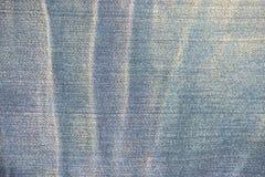 蓝色牛仔裤背景和构造 免版税库存照片