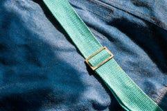 蓝色牛仔裤袋子 免版税图库摄影