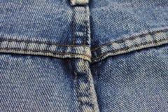 蓝色牛仔裤裤子细节  图库摄影