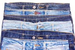 蓝色牛仔裤连续 免版税库存照片