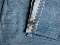 蓝色牛仔裤滞后纹理  免版税库存照片