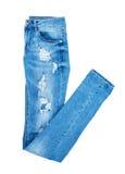 蓝色牛仔裤 图库摄影