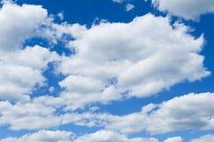 蓝色特写镜头云彩天空 库存图片