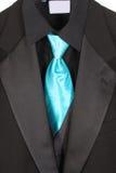 蓝色特写镜头诉讼关系 免版税库存图片