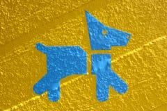 蓝色狗 免版税库存照片