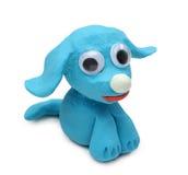 蓝色狗 库存照片