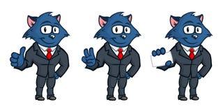 蓝色猫吉祥人 库存图片