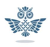蓝色猫头鹰 免版税库存照片