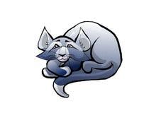 蓝色猫 图库摄影