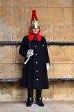 蓝色王室伦敦英国Horseguard  库存图片