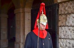 蓝色王室伦敦英国Horseguard  免版税库存照片