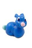 蓝色玩具兔子 免版税库存图片