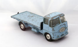 蓝色玩具卡车 库存照片