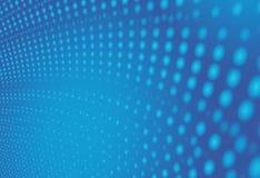 蓝色现代抽象分数维艺术 与被排列的小点的软的背景例证 空间感受 专业图表模板 技术 库存例证